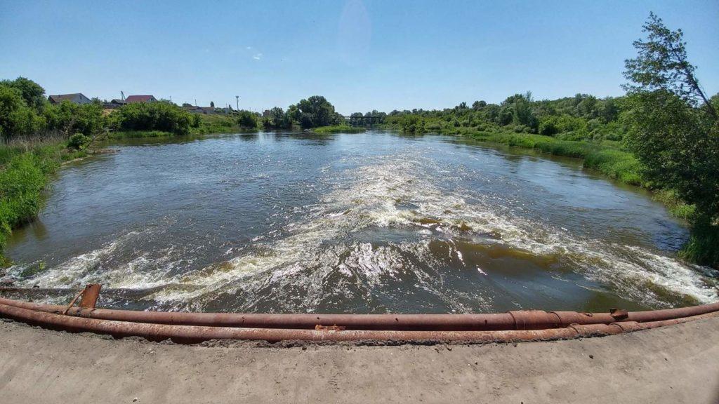 Жирновск река Медведица вид с малого моста