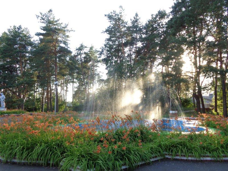 Городской Парк культуры и отдыха фонтан